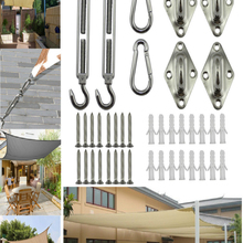 Kit-Pad Canopy Carabiner-Clip Snap-Hook Hardware Fixing-Accessories Sun-Shade Sail Stainless-Steel
