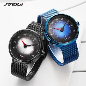 Image 5 - SINOBI Luft Auto Dashboard Neue Kreative Design herren Uhren Top Luxus Mann Quarz Handgelenk Uhren Männlichen Blau Uhr relogio masculino