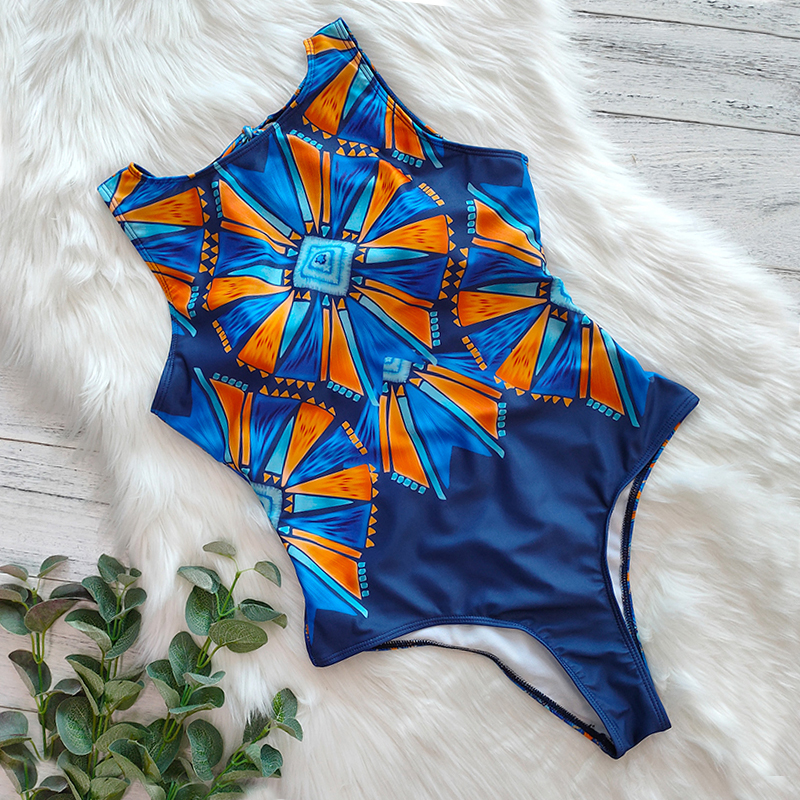 Hf2504f5113b547749772f10e8c4fa618h - Striped Women One Piece Swimsuit High Quality Swimwear Printed Push Up Monokini Summer Bathing Suit Tropical Bodysuit Female