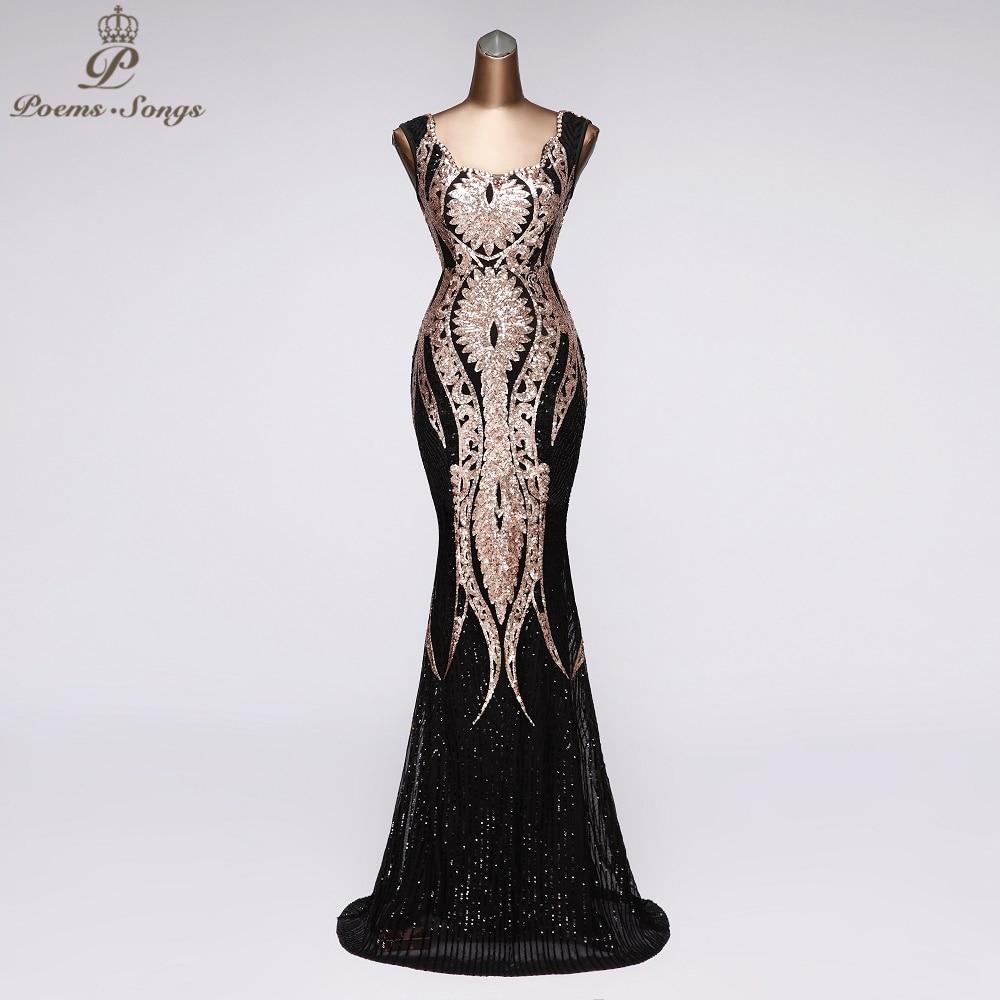 Real Photos Elegant Sequins Mermaid Evening Dress Vestidos Beautiful Party Dresses Prom Dresses Robe De Soiree