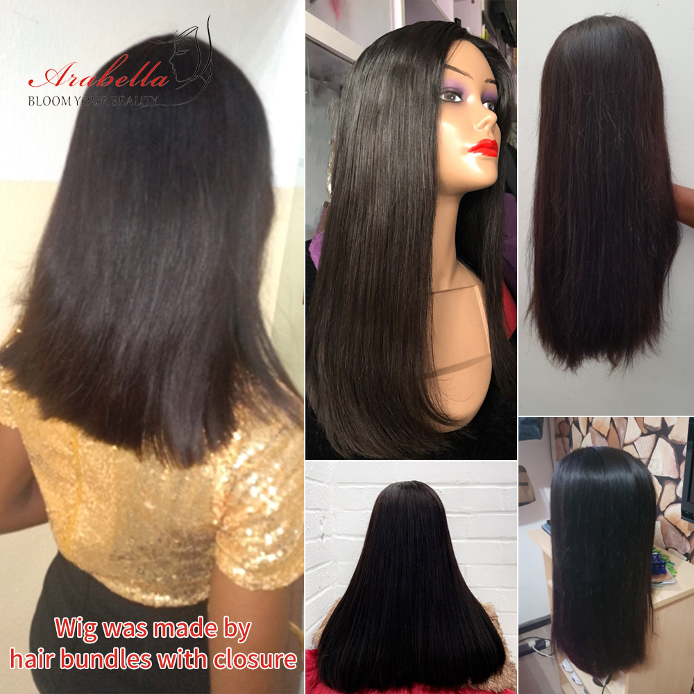 Super Double Drawn Hair Bundles With Closure PrePlucked Bleached Knots Arabella Virgin Hair  With 4*4 Double Drawn Closure 6