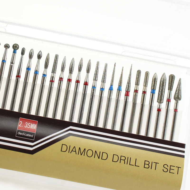 30 pçs/lote Diamante Fresa Bits Prego Broca Lixa de Unhas Elétrica Para Manicure Pedicure Unhas Broca Machine Tools Acessórios