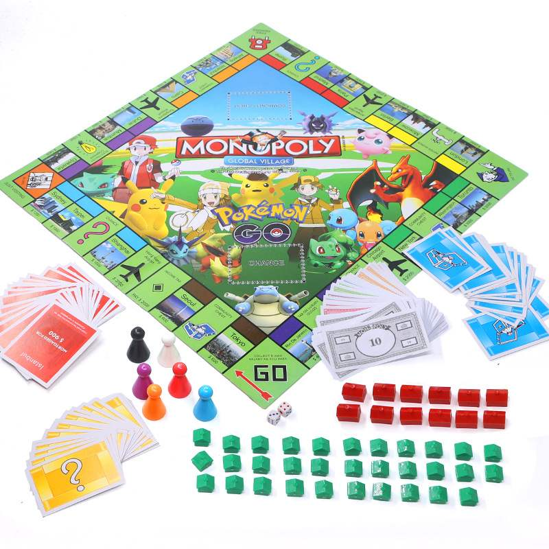 Hasbro Pokemon Strategy Table Games Monopoly Card Board Gaming Toys Family Party Play Together