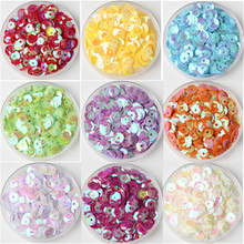 Multi Size Mix Color 4mm 5mm 6mm Sequin PVC Round Cup Sequins Paillettes Sewing Wedding Crafts Women Garments Accessories 10g