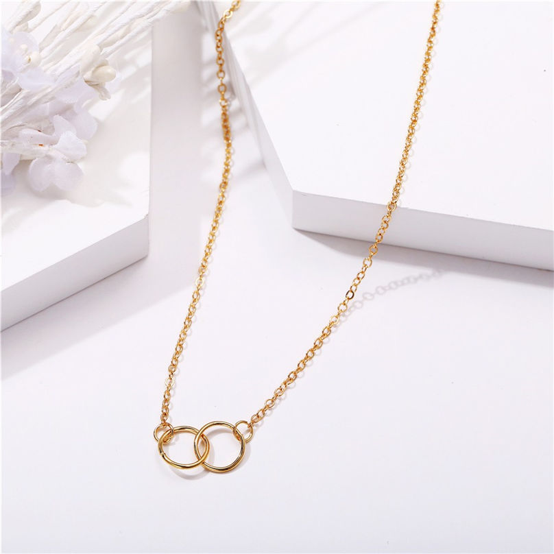 New Fashion Jewelry Pentagram Pendant Clavicle Chain Vintage Star Crescent Three-Layer Women Necklace Choker 4O24 (4)
