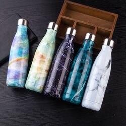 500ml przenośne ze stali nierdzewnej izolowana butelka na wodę szczelny termos o podwójnych ściankach Hot/zimnej 500ML Outdoor Travel w Bidony od Dom i ogród na