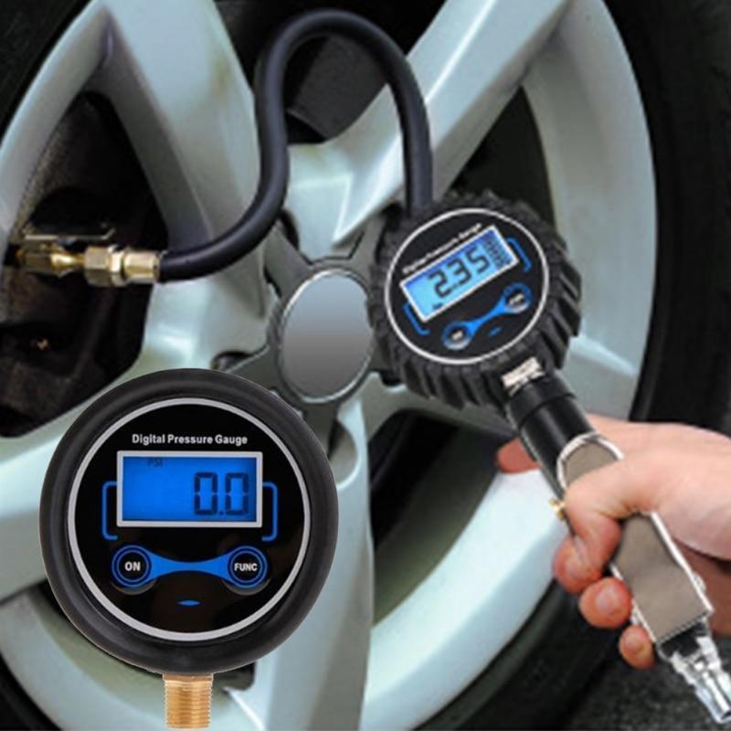 Medidor de presión de neumáticos para motocicleta de coche, bombas de inflado SUV, herramientas de reparación de neumáticos, tipo de pistola de presión para compresor de aire duradero
