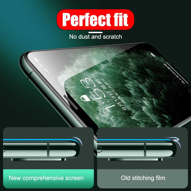 999D temperli koruyucu cam iPhone 11 Pro Max 7 X XR ekran koruyucu için iPhone 7 8 6 6s artı XS Max 11 Pro cam