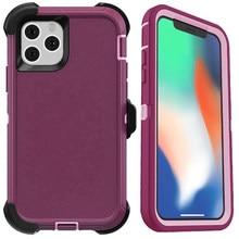 Funda protectora híbrida a prueba de golpes 3 en 1 para iPhone 12 Pro Max XS Max, funda protectora resistente para iPhone 6S 7 8 Plus