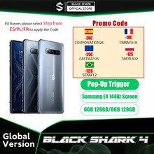 2021 nova versão global preto tubarão 4 6gb/8gb smartphone snapdragon 870 144hz atualizar taxa e4 amoled tela dc escurecimento ufs 3.1