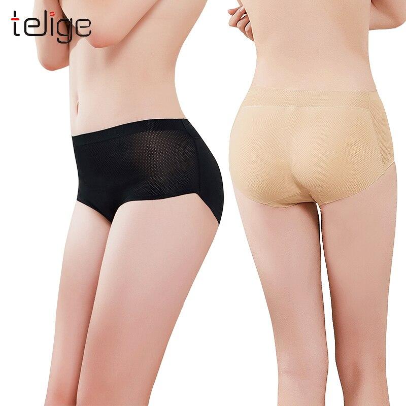 Mid Waist Sexy Womens Butt Lifter Hip Enhancer Shapewear Nylon Paded Panties Boyshorts Briefs hot shapers pants in Control Panties from Underwear Sleepwears