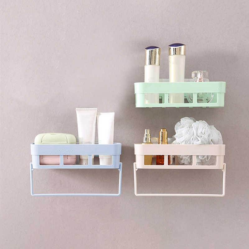 Bathroom Shelf Plastic Toilet Bathroom Vanity Wall Hanging Bathroom Storage Rack Basket Cosmetics Organizer Rack