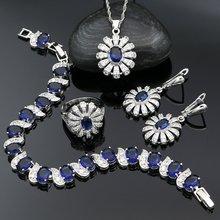 925 серебряные ювелирные наборы для женщин вечерние аксессуары