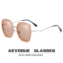 AEVOGUE Neue Frauen Polygon Retro Mode Polarisierte Sonnenbrille Gradient Lens Fahren Gläser Marke Design UV400 AE0820