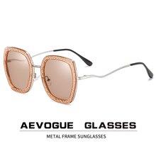 AEVOGUE Nuovo Donne Poligono Retro Moda Occhiali Da Sole Polarizzati Gradiente Lente di Guida Occhiali di Disegno di Marca UV400 AE0820