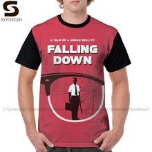Camisa de t de michael douglas que cai para baixo filme inspirado arte imprimir camiseta bonito grande t camisa masculina gráfico tshirt