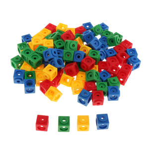 Starter Cubes Math-Link Learning-Toys Counting Blocks Present Education 100pcs Prop-2x2x2cm