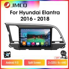 Jmcq t9 rádio do carro para hyundai elantra 6 2015 2016 2017 2018 multimidia jogador de vídeo 2 din android 9.0 gps navigaion split tela