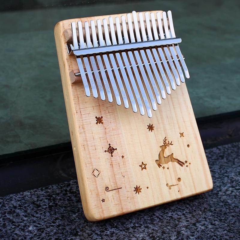 KERUS Kalimba Thumb Piano 17 Keys With Mahogany Wood Portable Mbira Finger Piano Gifts For Kids And Piano Beginners Professional
