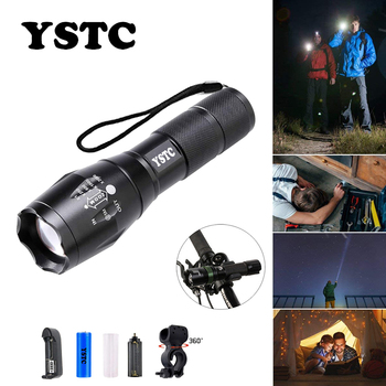 Led Flashlight Ultra Bright Torch T6/L2 Outdoors Waterproof Zoomable Rechargeable 18650 Battery Flashlights Hiking Bicycle Light anjoet ultra bright mini zoom flashlight led torch cree xml t6 l2 waterproof lanterna rechargeable light ues 18650 penlight