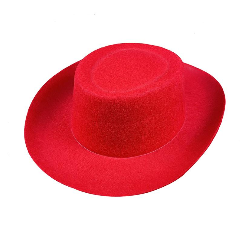 Delicate Red Cowboy Hat Big Western Hat Non Woven Hat Sun Hat For Decoration Use