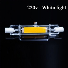 LED R7S Glass Tube 118mm 78mm Dimmable Instead Of Halogen Lamp Cob 220V 110V Energy Saving Powerful R7S Led Bulb 6W 10W