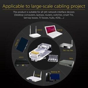 Image 3 - Conector HOT 50Pcs Cat6 RJ45 UTP, Cable Ethernet, conector 8P8C, Red CAT 6, enchufes modulares con tapas RJ45 de 6,5mm