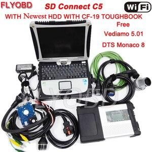 Image 1 - MB Stern C5 SD SCHLIEßEN KOMPAKTE 5 Auto Diagnose Werkzeug mit Software 2021 03 SSD und CF 19 i5 Toughbook full kit Bereit zu verwenden