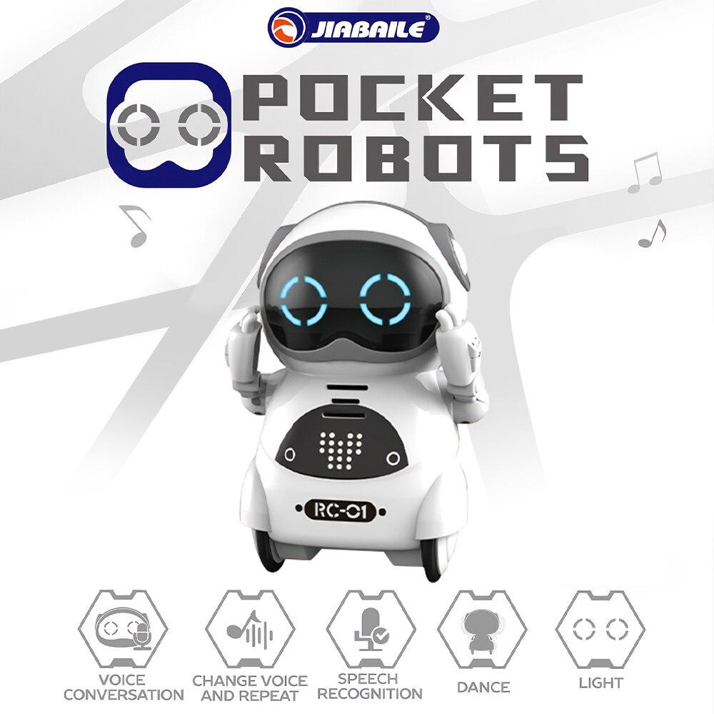 939A Robot de bolsillo que habla con un lenguaje interactivo reconocimiento de voz Grabación de baile que dice historia Mini Robot juguete para bebé