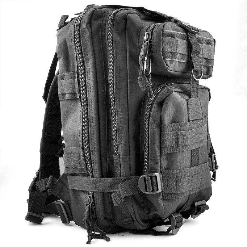 Spor ve Eğlence'ten Tırmanma Çantaları'de 30L Açık Askeri Sırt Çantaları Sırt Çantası Kamp Yürüyüş Trekking Çanta Siyah title=