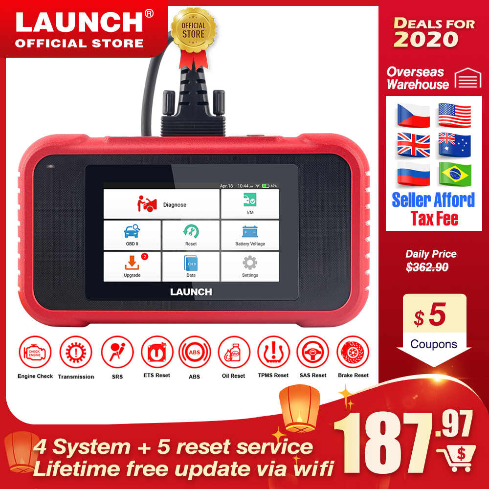 Launch X431 CRP129E CRP123E CRP129 CRP123 Creader VIII OBD2 diagnostic tool for ENG/AT/ABS/SRS Multi-language free update