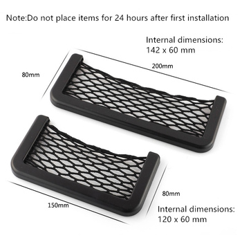 Car Storage Bag Net Pocket Phone Holder Stiker for BMW G30 E53 E60 E61 E63 E65 E81 E82 E87 E90 E91 X5 E46 F30 E70 M Accessories image