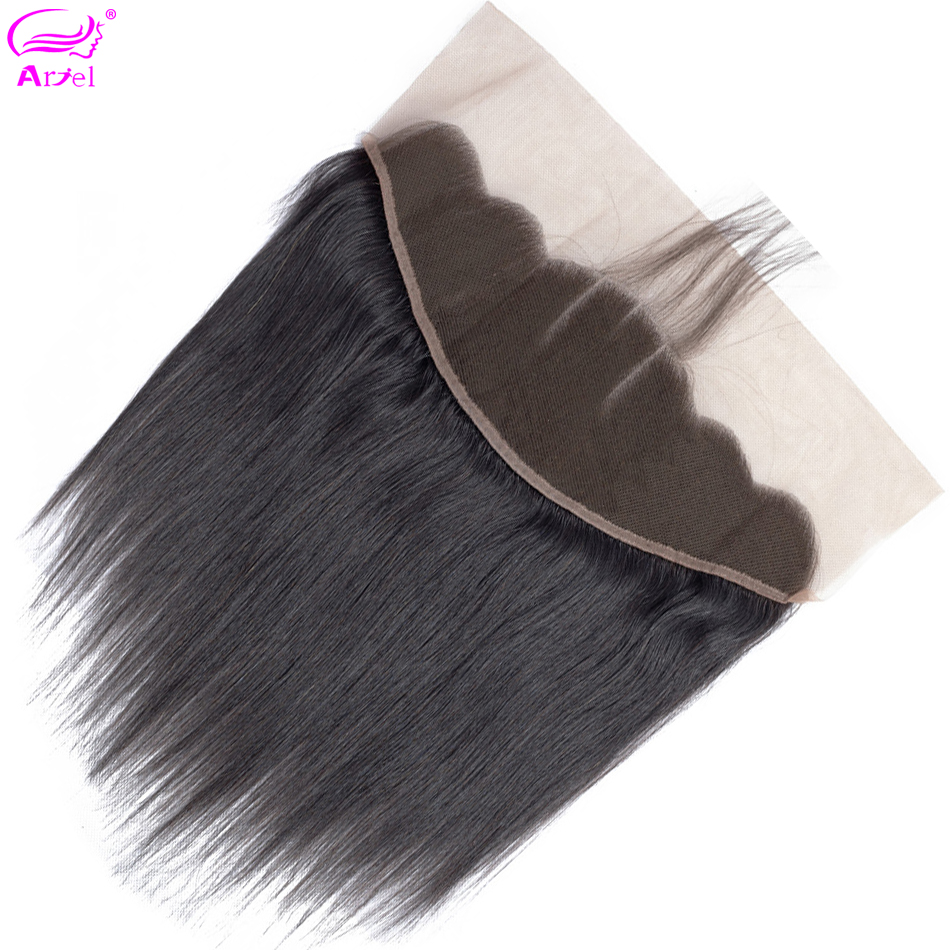 Closure Frontal Human-Hair Swiss 20inch Non-Remy Malaysian Straight 134 Ear-To-Ear