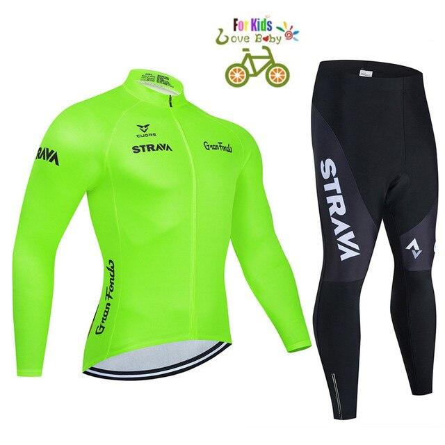 2020 strava criança bicicleta meninos roupas conjunto camisa de ciclismo respirável secagem rápida crianças adorável ciclismo roupas terno 1