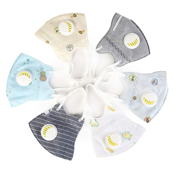 Kids Children Washable Cartoon PM2.5 Mouth Mask With Valve Nose Filter Face Muffle Flu Respirator Anti Haze Dust Mask