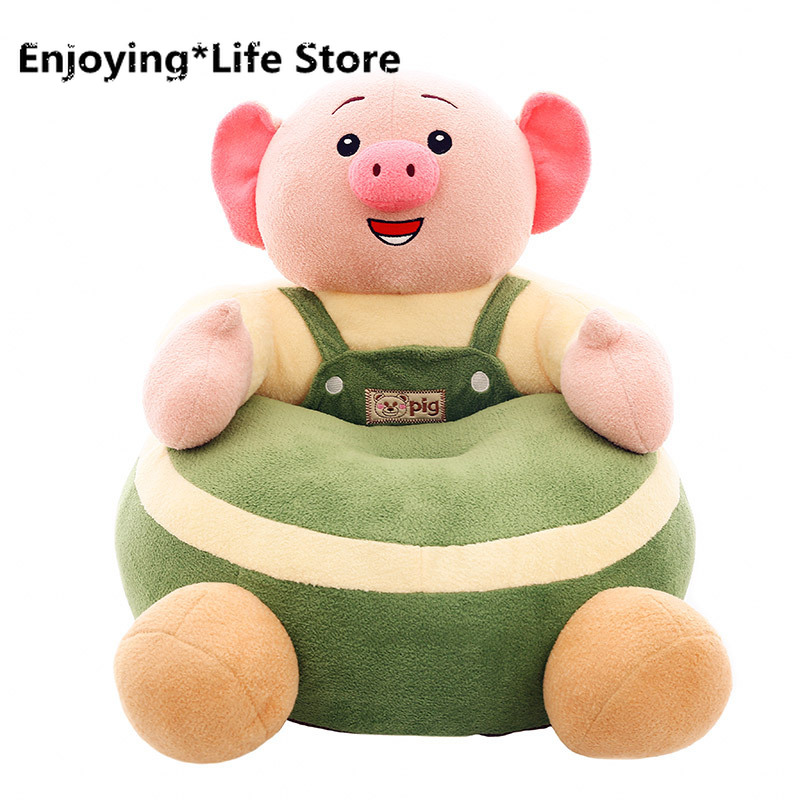 Child Sofa Seat Explosive Creative Kids Chair New Pig Little Fart Plush Toy Pig To Give Children Gifts Baby Sofa Armchair
