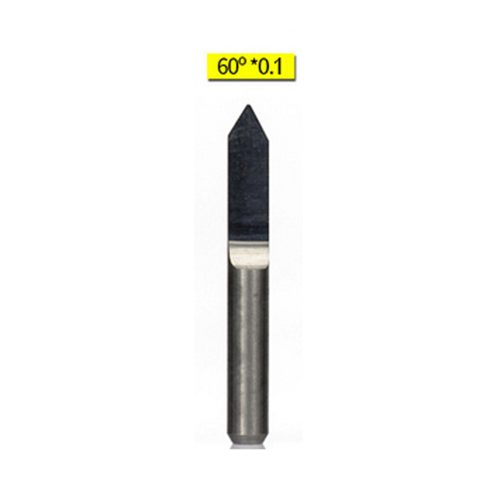 10pcs 10 Degree 0.1mm Titanium Coated Carbide PCB Engraving Bits CNC Router Tool