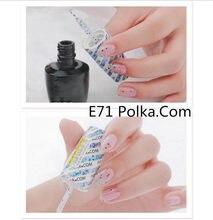 E71 Polka Com 15ml UV LED jel cila Vernis kalıcı kalıcı parlaklık balsamik Nail Art (gerek lamba kuru)