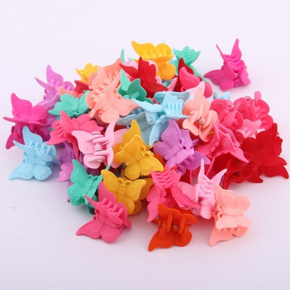 20 50 100pc cor mista borboleta grampos