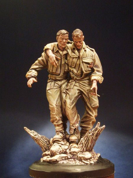 1/16  Ancient Wounded Set Include 2 (WITH BASE )   Resin Figure Model Kits Miniature Gk Unassembly Unpainted