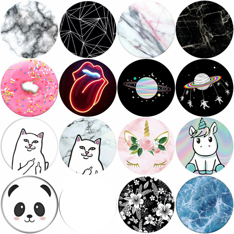 Marble And Cute Animal Kids Phone Holder Mobile Stand Pocket Mine Finger Ring Flexible попсокет