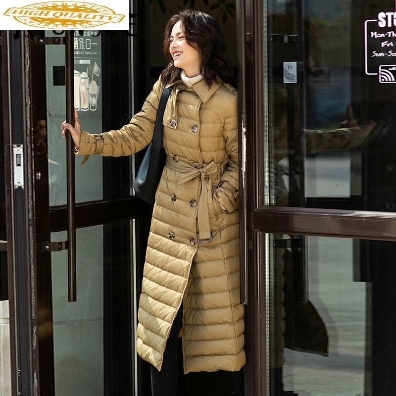 90% White Duck Down Jacket Women Clothes 2019 Winter Coat Women Korean Vintage Slim Puffer Jacket Women Warm Parka 3111 YY2032
