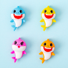 4 pcs/lot Rubber Erasers shark baby modelling Pencil Eraser Students Stationery School Supplies For Children Kids Gift