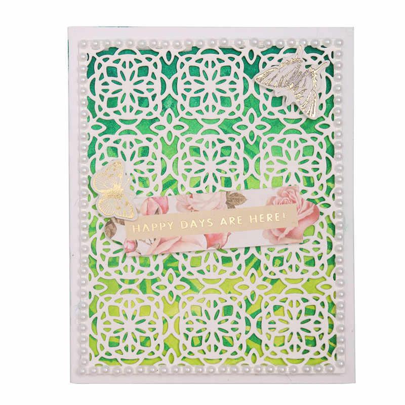 Kokorosa çerçeve ölür çiçek arka plan Metal kesme ölür için yeni 2019 kart yapımı Scrapbooking ölür kabartma kağıt şablon