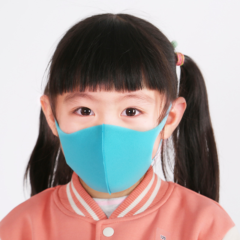 3Pcs/Set Child Face Mask Anti Dustproof Solid Color Mask For Boy Girl Candy Color Black Pink Mouth Masks Breathable Warmers 2020