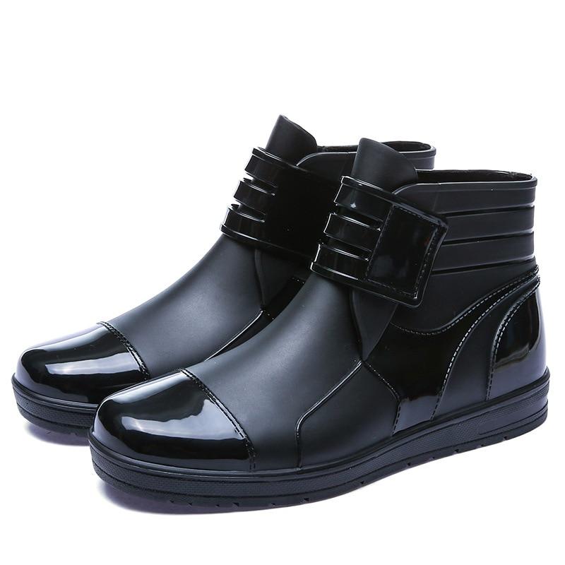Regen Stiefel Männer der Kurzen Sommer Männer Low Top Gummi Stiefel Mode Schuh Abdeckung Anti-slip Gummi Schuhe Wasserdicht schuhe Outdoor Erwachsene