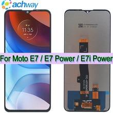 Orijinal Motorola Moto E7 güç için Lcd ekran dokunmatik ekran Digitizer Moto E7 lcd XT2052 Moto E7i güç lcd XT2097