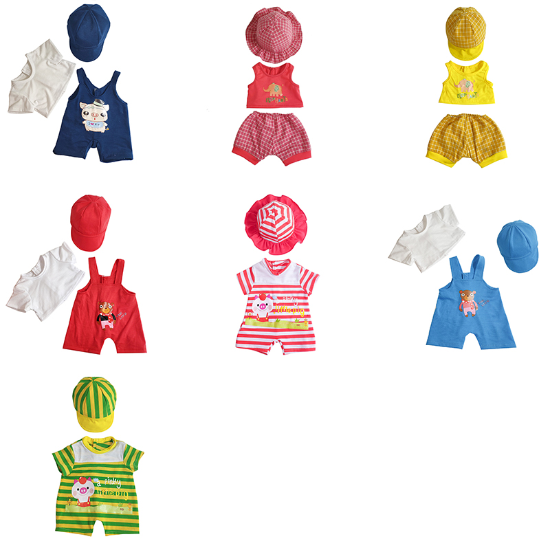 7 Style 20-inch Baby Doll Clothes Accessories Doll Accessories Reborn Baby Doll Clothes Baby Dress Suit For 50cm Dolls