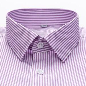 Image 2 - ผู้ชายลายปกติพอดีพอดีเสื้อ 100% ผ้าฝ้ายแขนยาวง่ายcareเสื้อ