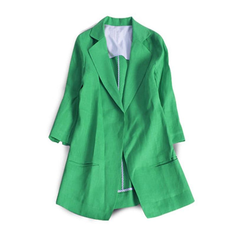 Three Quarter Women Blazer Spring Summer Women Blazers And Jackets Blazer Femme Plus 4XL Blazers Female CJ018